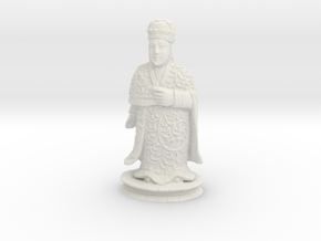 Traditional Cantonese Bishop Statuette 118mm in White Strong & Flexible