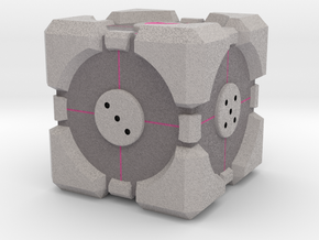 D6 Companion Cube Colored in Full Color Sandstone