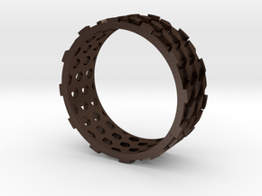 Parquet Deformation Ring (59mm) in Matte Bronze Steel