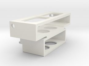 Chassis-insert-hinges in White Strong & Flexible