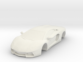Lambo From Zbrush in White Strong & Flexible