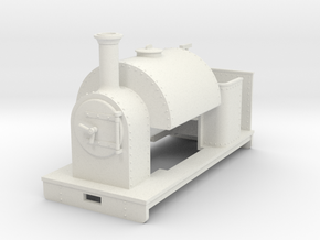 1:32/1:35 saddle tank loco open cab in White Strong & Flexible