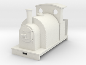 1:32/1:35 saddle tank loco with half open cab in White Strong & Flexible