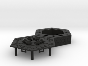 Centrifugal Puzzle Box in Black Strong & Flexible