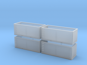 N scale 1/160 Tie or Dirt Container x 4 in Frosted Ultra Detail