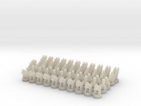 20 CIWS + 10 RAM-1 + 10 RAM-2 + 12 Harpoon in White Acrylic