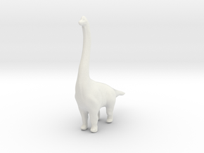 Brachiosaurus in White Strong & Flexible