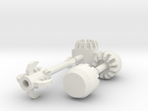 Buildable Mecha Mallet (Rf Edition) in White Strong & Flexible
