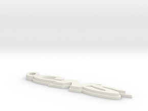 CNS Key Chain 66mm 2.6Inch Long 3mm Thick in White Strong & Flexible