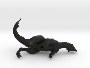 Psittacosaurus (sniffing breeze) 1:12 scale model in Black Strong & Flexible