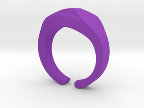 Heavy Ring model 1.1 (size US12: 21,4mm) in Purple Strong & Flexible Polished