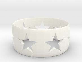 Star Band in White Strong & Flexible Polished