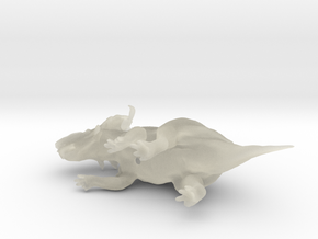 Pachyrhinosaurus 1:72 scale model in Transparent Acrylic