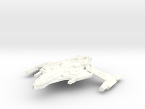 D'Trell Class AttackCruiser in White Strong & Flexible Polished