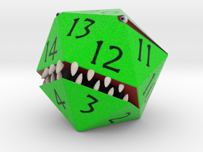 D20 Green Monster Figurine in Full Color Sandstone