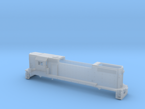 Z Scale High Nose Gp 38 With Cab in Frosted Ultra Detail