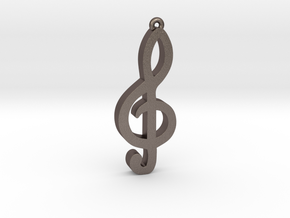 Music Note treble clef in Stainless Steel