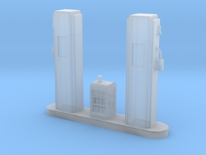 O-Scale 1950's Gas Pump Island in Frosted Ultra Detail