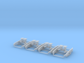 PXA MK2 bogies for PXA bogie box 2 wagons worth in Frosted Ultra Detail