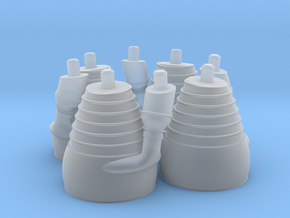 H-1 Engines (1:72 Outboards ONLY) in Frosted Ultra Detail