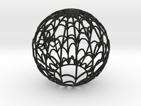 Spiderweb Shadow Tea Light Shade in Black Strong & Flexible