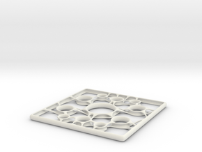 Steel Tile (30x30cm) in White Strong & Flexible