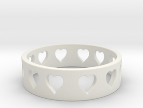 All Hearts Ring Size 7 in White Strong & Flexible