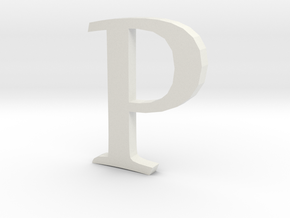 P (letters series) in White Strong & Flexible