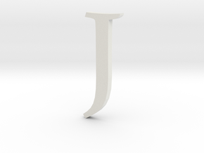 J (letters series) in White Strong & Flexible
