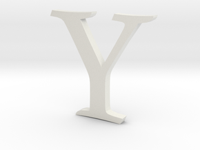 Y (letters series) in White Strong & Flexible