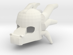Dragon Head Mask Style in White Strong & Flexible