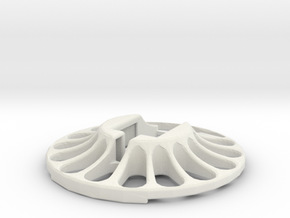 3D Scanner Turntable V23 - Holder in White Strong & Flexible