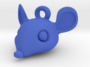 Mouse-head keychain in Blue Strong & Flexible Polished