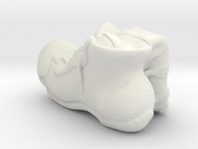 Circus Boot in White Strong & Flexible
