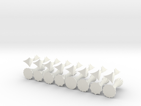 ParametricChessSetShapeways in White Strong & Flexible