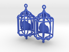 Bird in a Cage 02 in Blue Strong & Flexible Polished