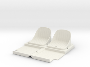 SR40006 Beach Buggy Seats in White Strong & Flexible