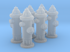 Hydrant type A 1:43 ( 0 scale ) 6 Pcs in Frosted Ultra Detail