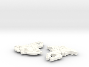 Corridan Class Cardassian Attack Ship in White Strong & Flexible Polished