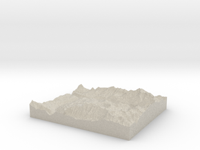 Model of Mountain Village in Sandstone