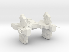 Hydreon Battle Cruiser BC-FTL12 (large) in White Strong & Flexible