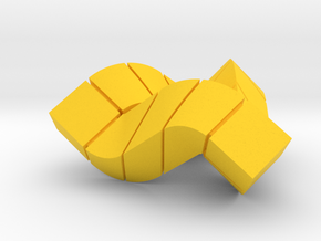 Impossible Triangle, Cubed & Compact in Yellow Strong & Flexible Polished