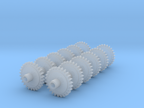 Replacement 2mmFS Terrier Gears With Muffs in Frosted Ultra Detail