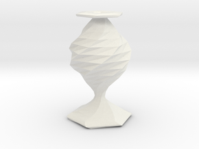 twisted flower  vase in White Strong & Flexible