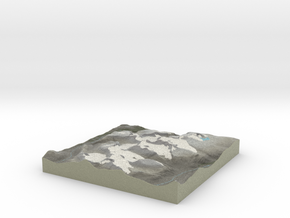 Terrafab generated model Wed Oct 09 2013 16:33:21  in Full Color Sandstone