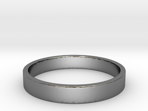 simple silver ring Ring Size 7 in Premium Silver
