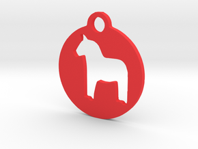 Darlecarlian Horse in Red Strong & Flexible Polished