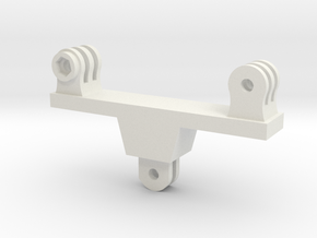 Dual GoPro Mount in White Strong & Flexible