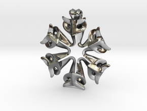 Pendant Of The Shapers in Polished Silver