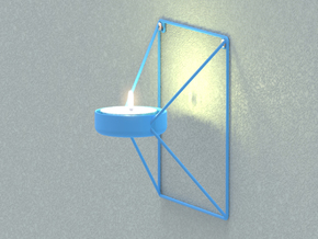Kube Tealight Holder in Blue Strong & Flexible Polished